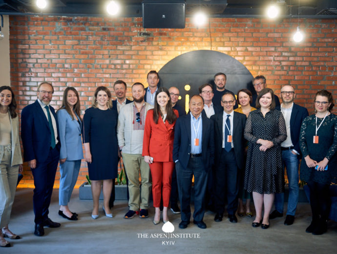 Members of the Aspen Institute Kyiv met with Francis Fukuyama